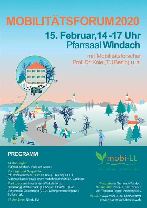 15. Februar in Windach: 2. Mobilitätsforum